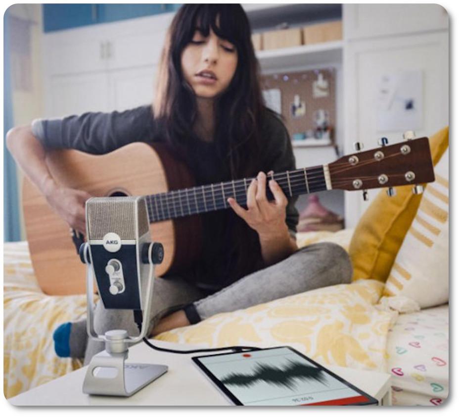 Микрофон для записи AKG Lyra подходит для блогеров и музыкантов