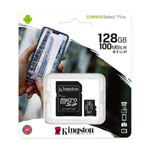 KINGSTON microSDXC 128Gb Canvas Select+ A1 UHS-I (U1) (SDCS2/128GB)