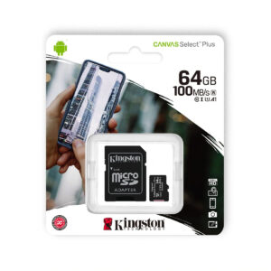 KINGSTON microSDXC 64Gb Canvas Select+ A1 (R100/W10) (SDCS2/64GBSP)