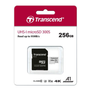 TRANSCEND microSDXC 300S 256GB UHS-I U3 + ad (TS256GUSD300S-A)