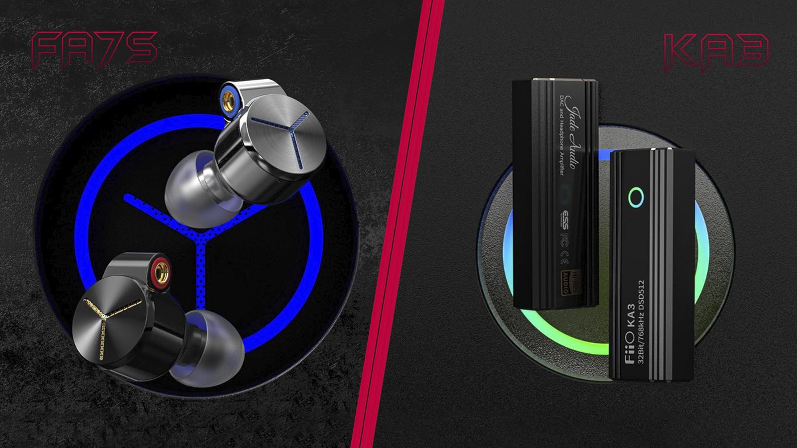 FiiO FA7S та KA3 — нові навушники та портативний ЦАП
