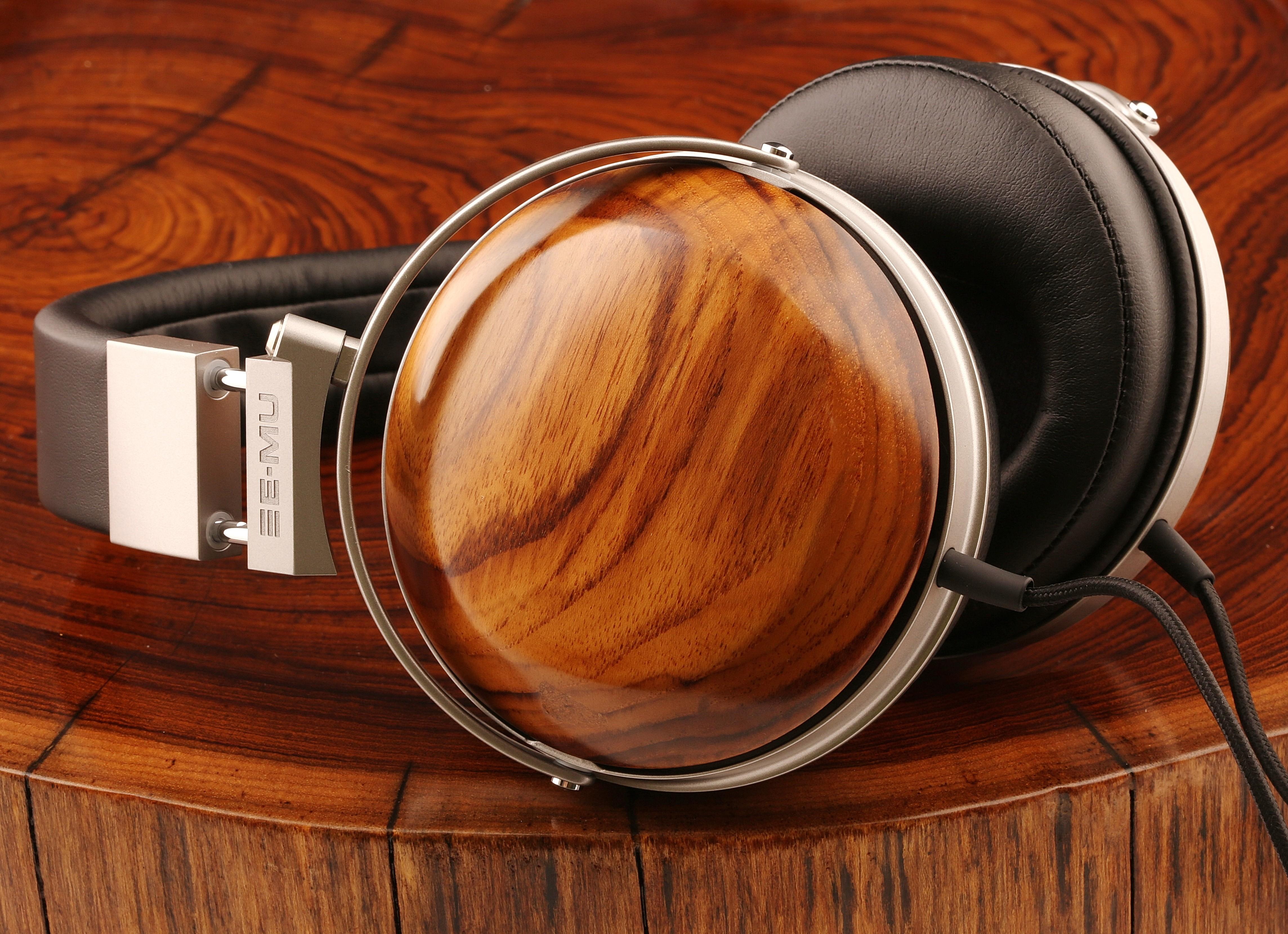 Деревянные аудиофильские наушники серии E-MU