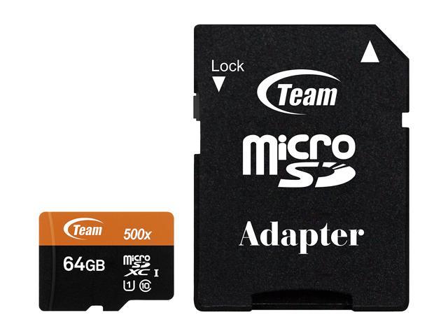 Team micro SDXC 64Gb UHS-1 (adapter) (TUSDX64GUHS03)