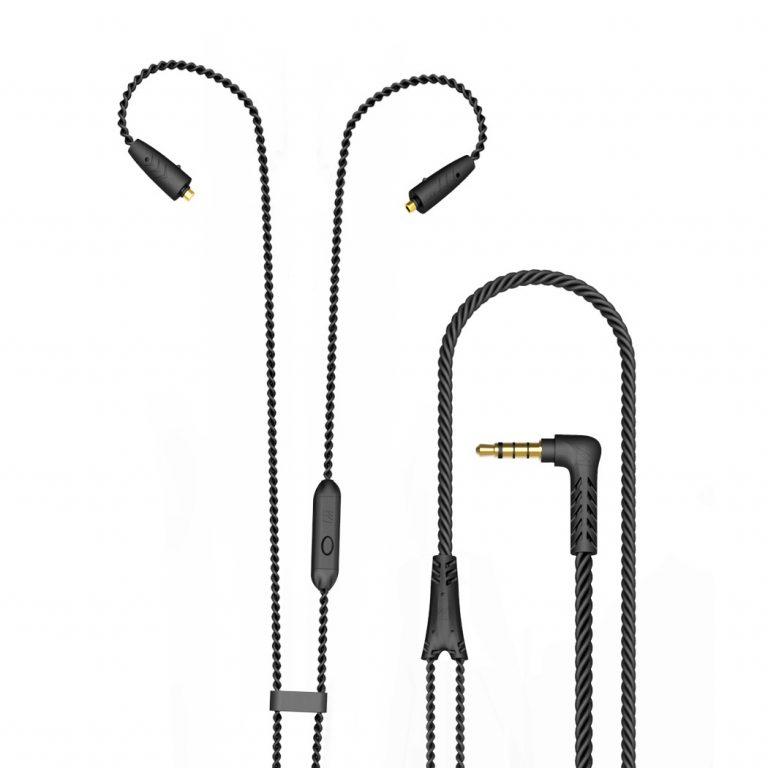 Кабель MEE Audio Cable with MMCX Mic 3,5mm (Black)