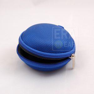 Круглый жесткий чехол для наушников - Синий