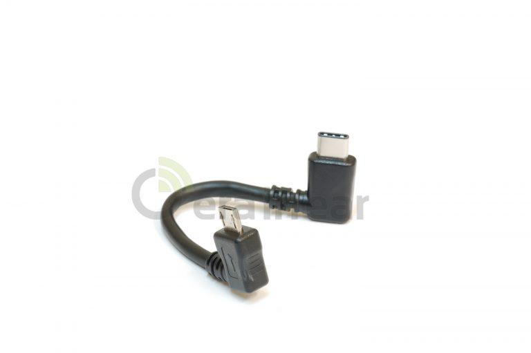 Кабель USB Type C to MicroUSB for DAC 0,1м (уголовой)
