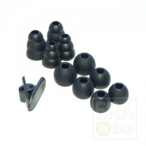 Набор силиконовых насадок из 5 пар (Чёрные)
